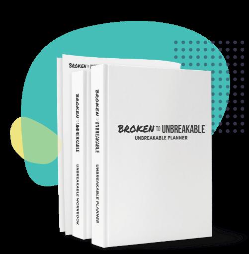 book mockup of Overcoming PTSD workbooks