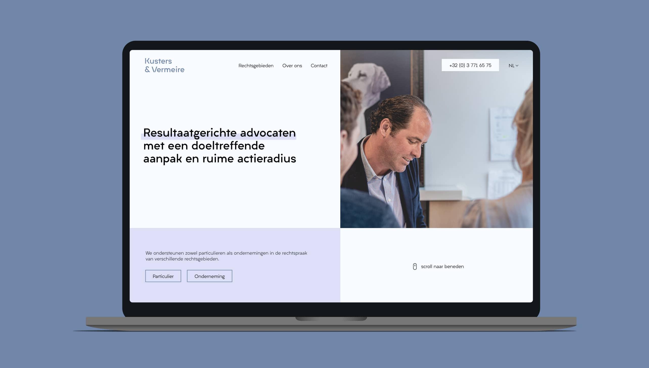 Websiteontwerp van Kuster&Vermeire advocaten