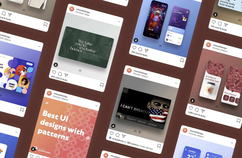 voorbeeldposts mixwebdesign instagram