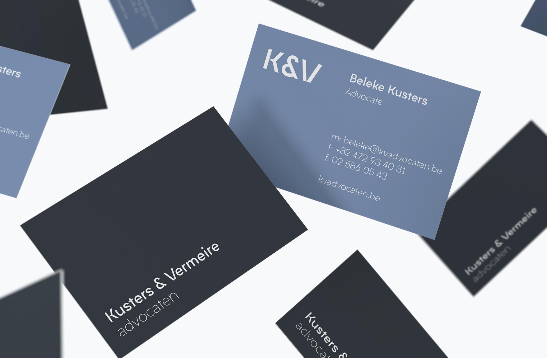 Visitekaartjes Kusters & Vermeire advocaten