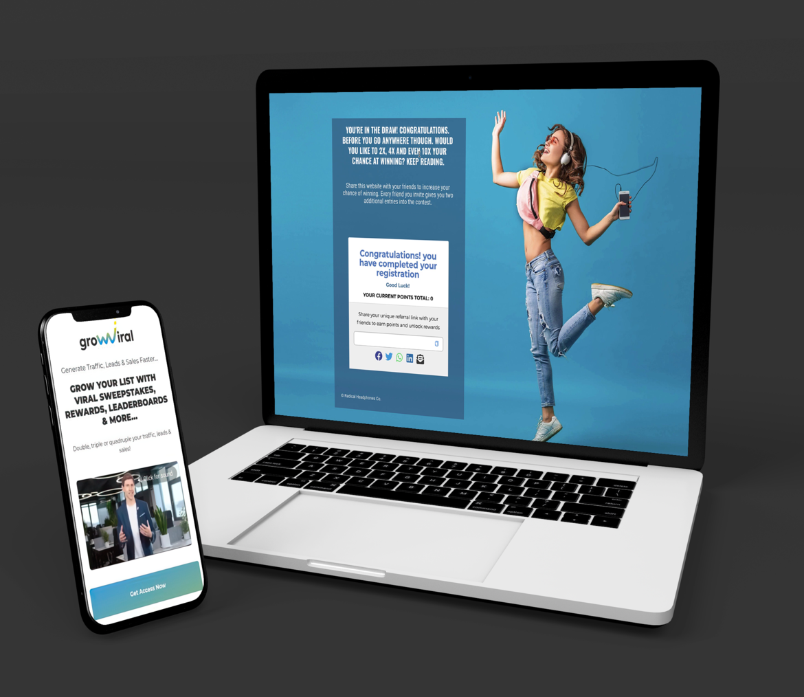 building saas referral and viral marketing platform app on web and mobile