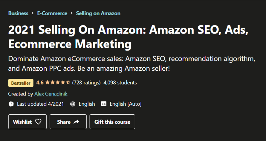 2021 Selling on Amazon- eCommerce Courses 2021