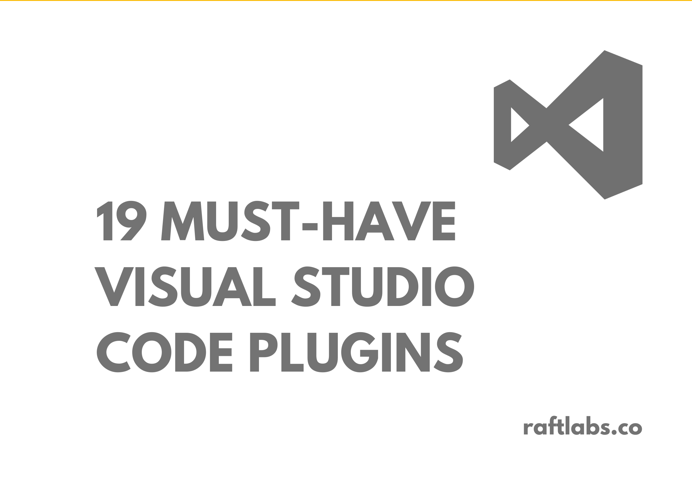 19 Must-Have VSC Plugins with Visual Studio Code Logo - raftlabs.co