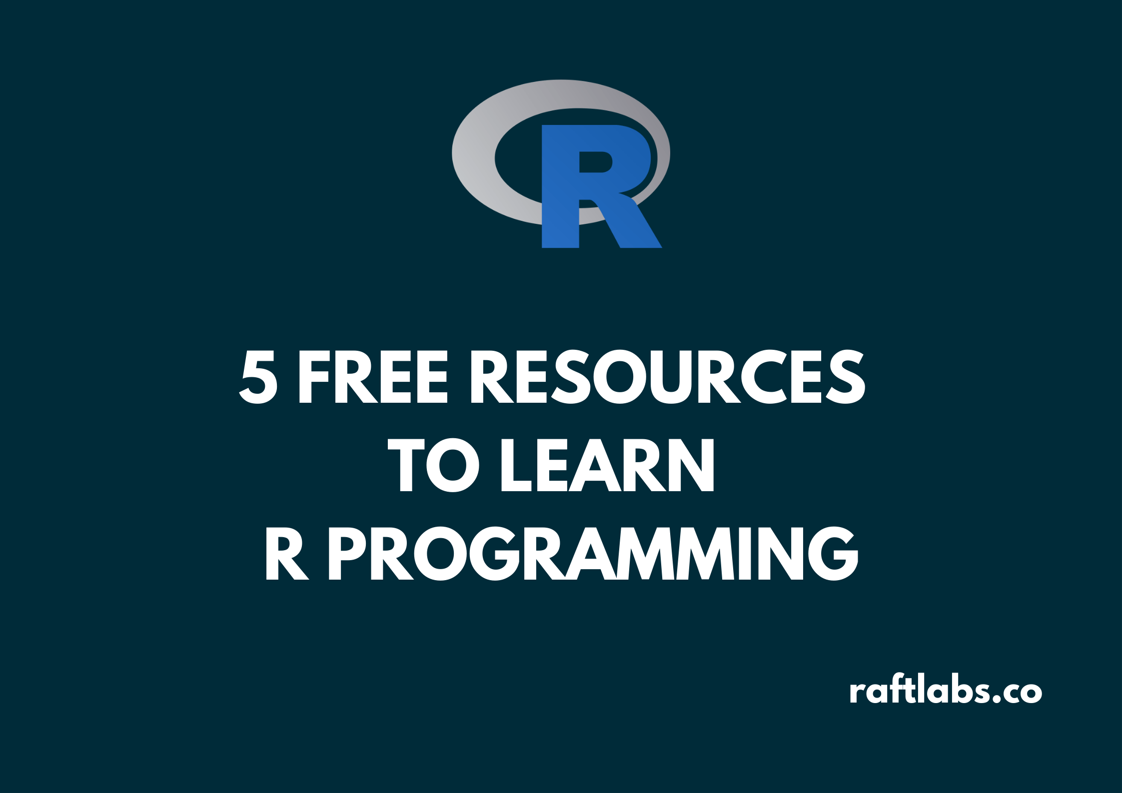Thumbnail of free resources to learn R