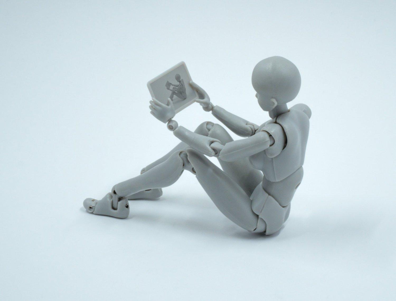 robot sitting on floor