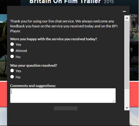 BFI post chat
