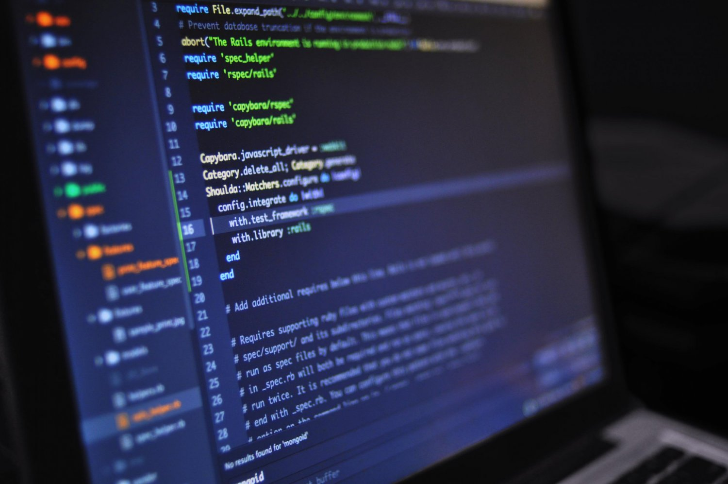 coding and CSS on laptop screen