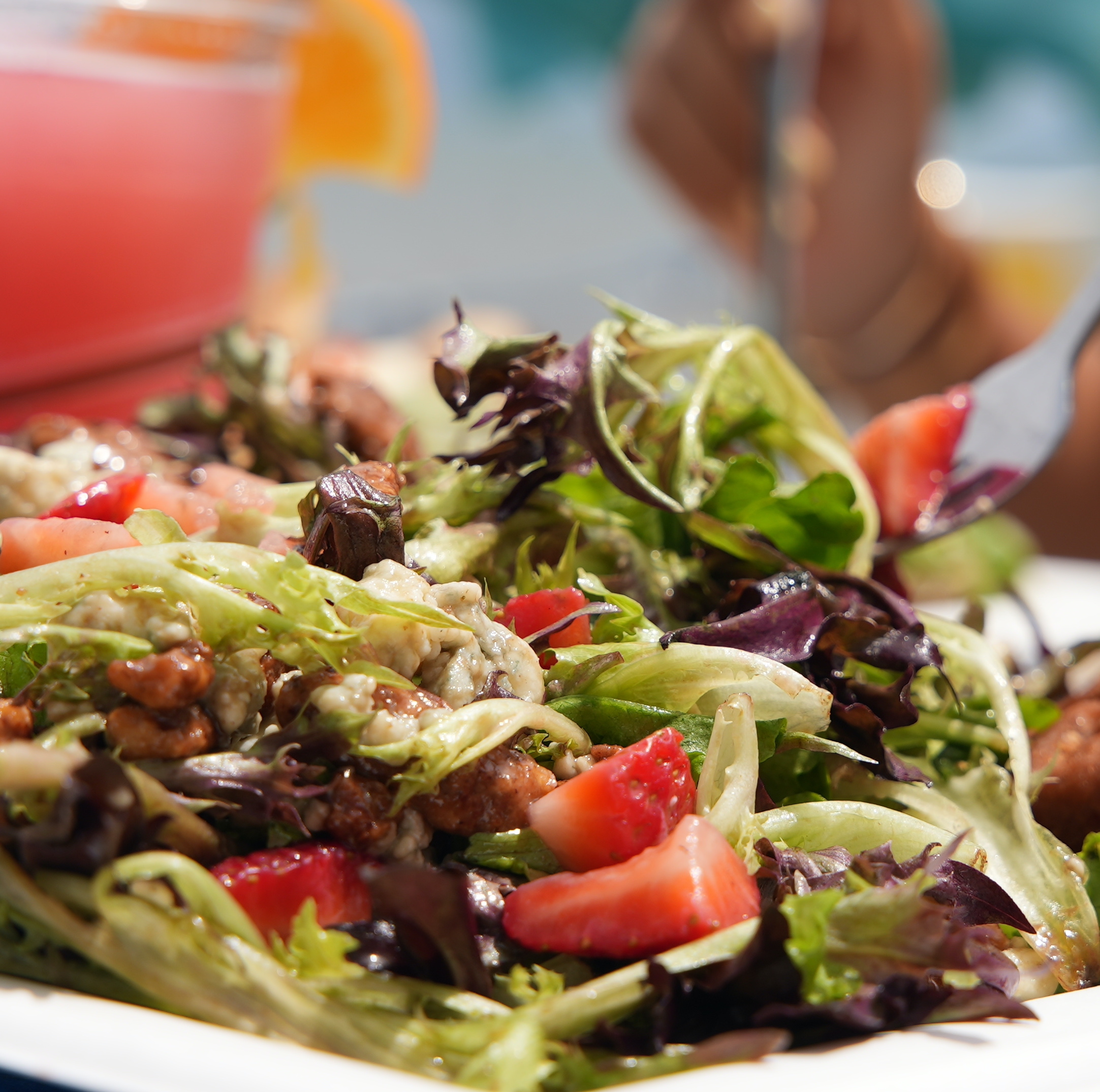Spring Mix and Strawberry