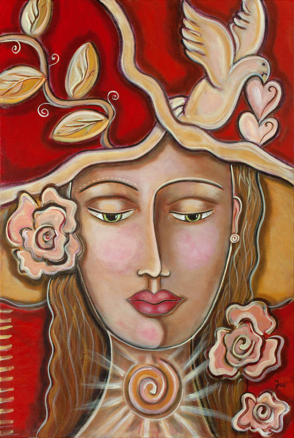 Painting Titiled - She Finds Peace Within