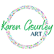 Karen Gourley Artist logo situated in the footer