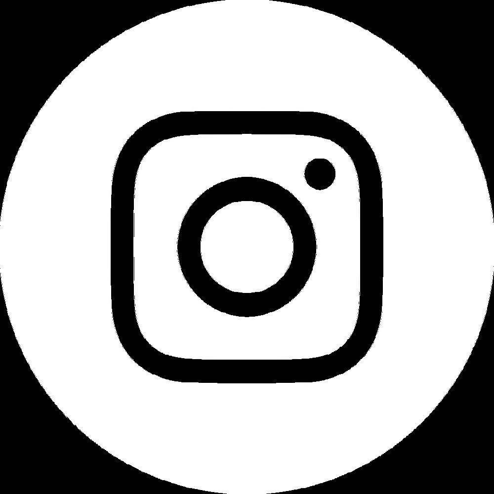 Logo Instagram rond blanc