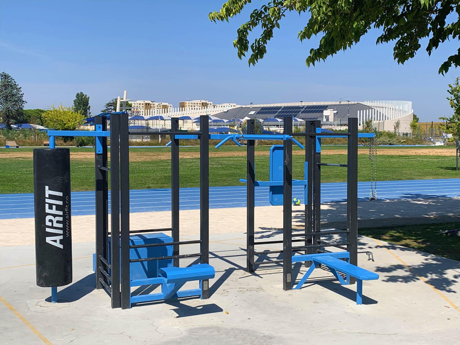 Photo de l'aire de Fitness du Parc des Sports d'Avignon