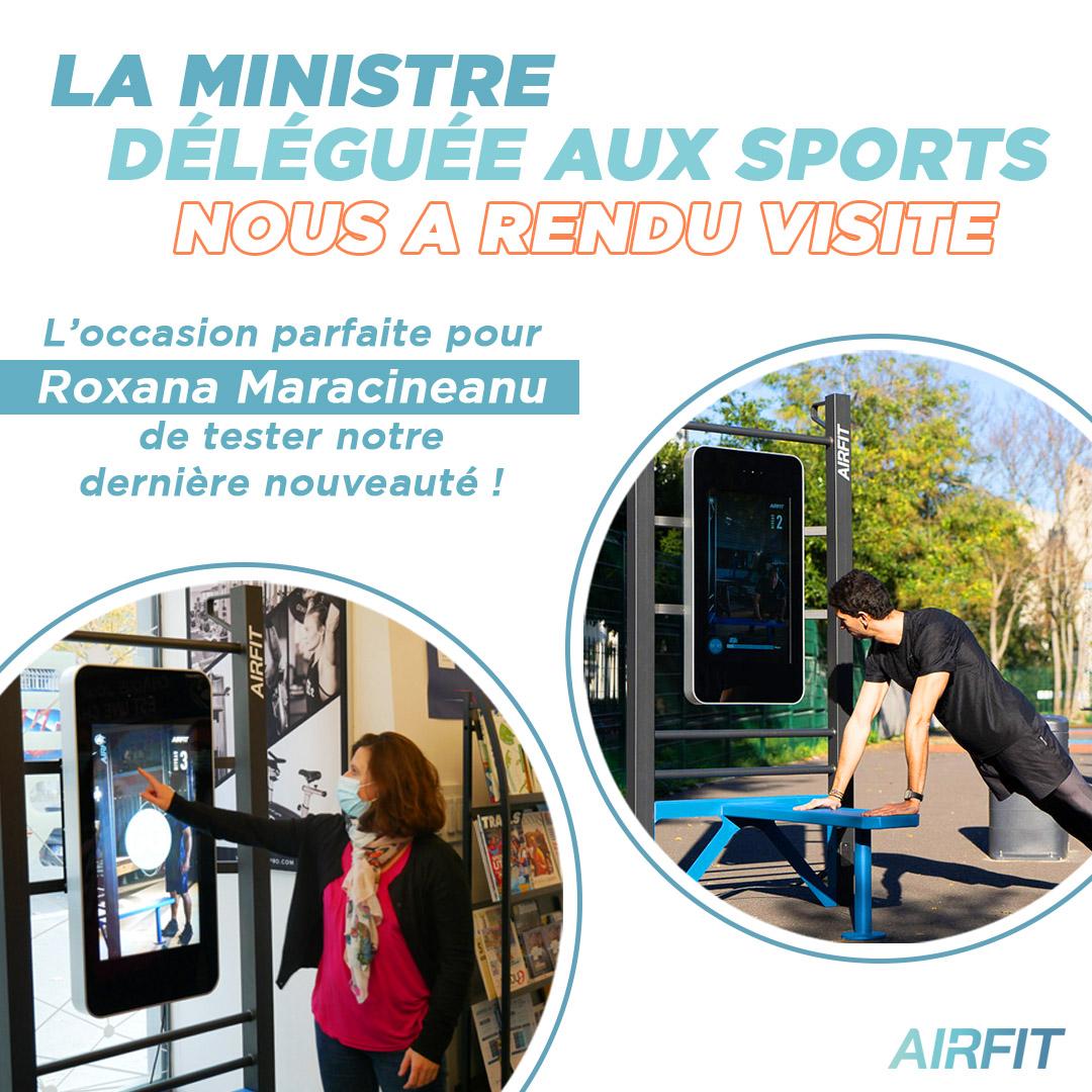 Roxana Maracineanu : visite et test de la station digitale