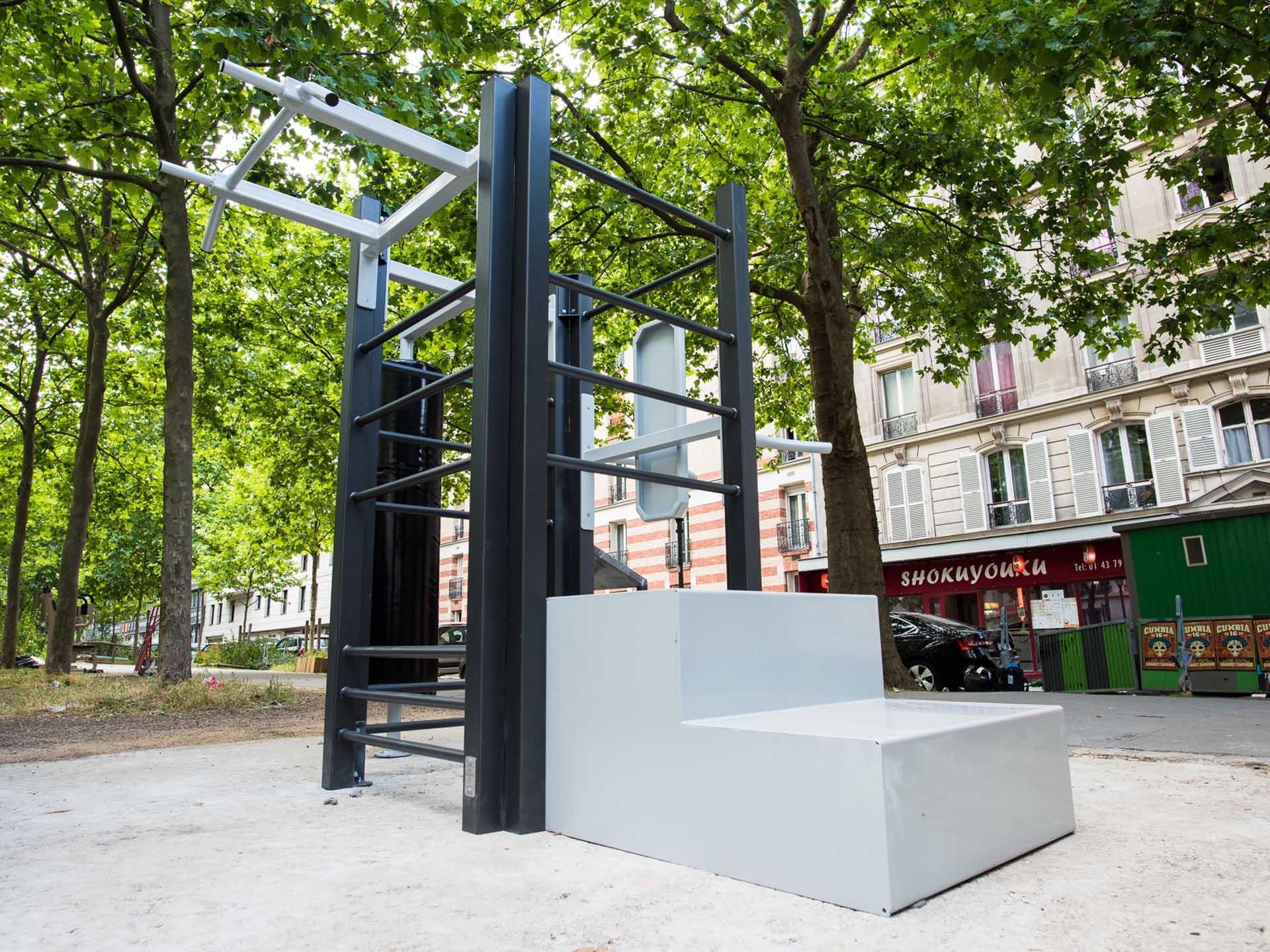 Photo de l'équipement sportif en accès libre du Boulevard de Charonne à Paris
