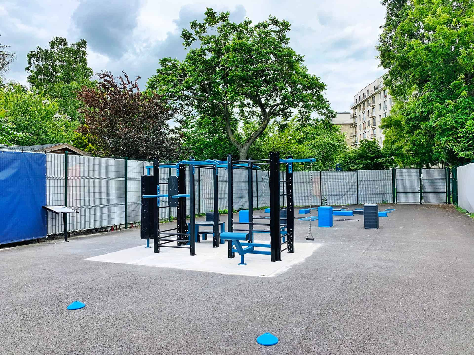 Photo de l'aire de fitness en extérieur AirFit au Stade Français