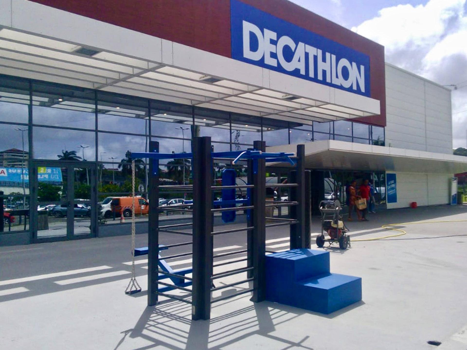Photo de l'équipement fitness face au Décathlon Martinique