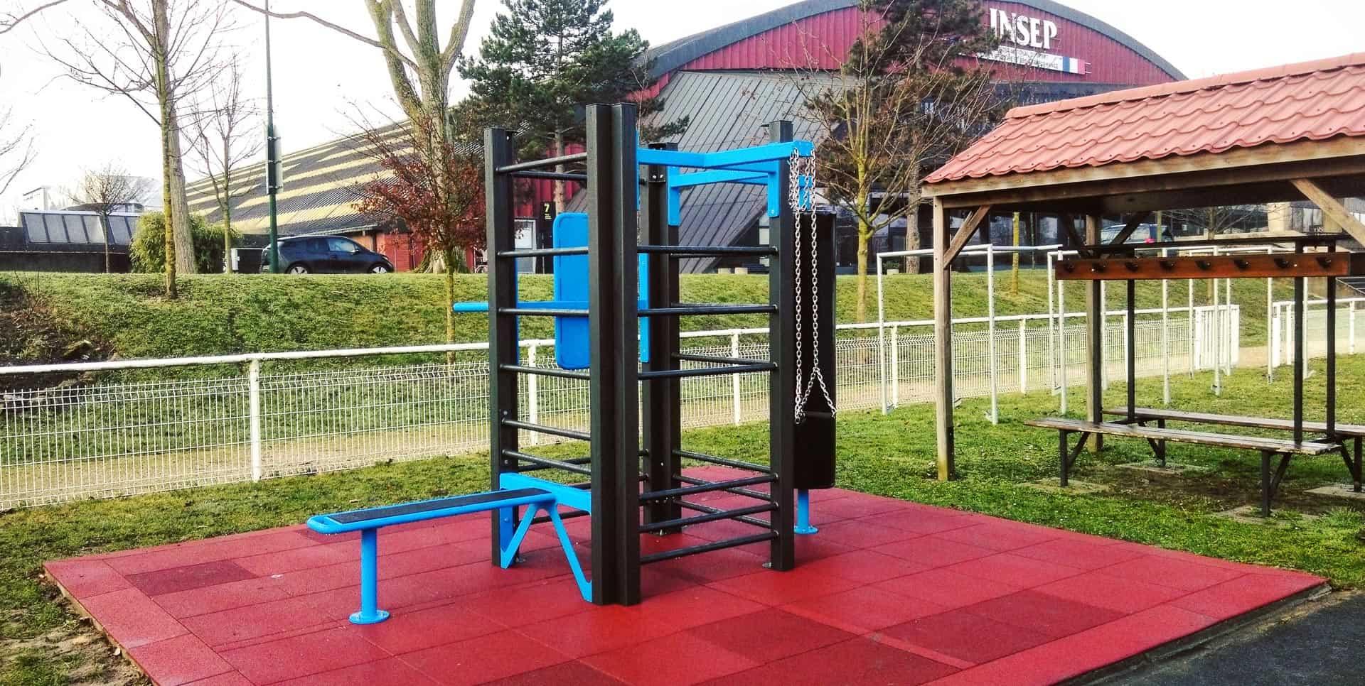 Photo de l'aire de Fitness AirFit à l'INSEP