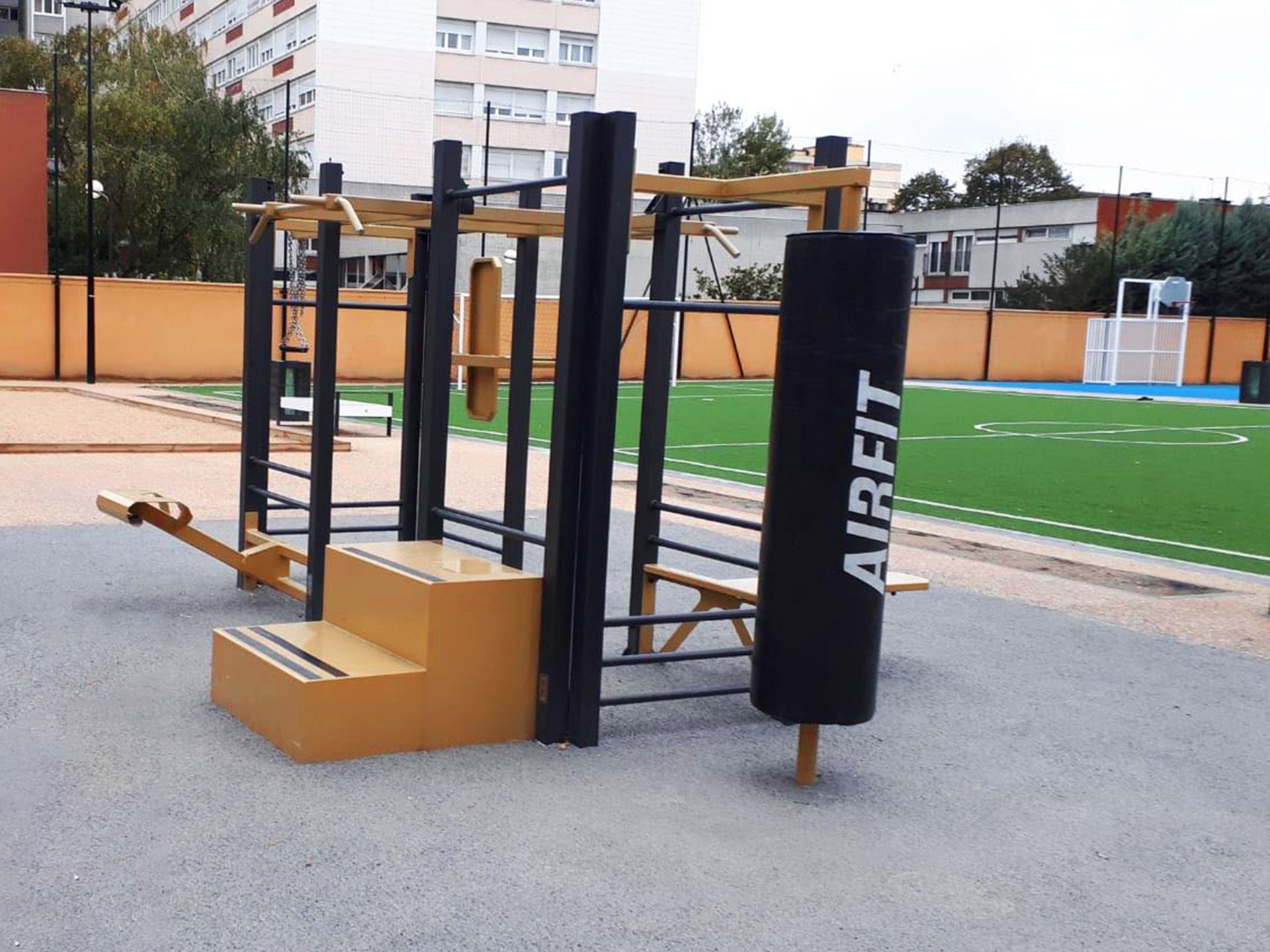 Photo de l'aire de Cross-Training à côté du terrain synthétique d'Aubervilliers