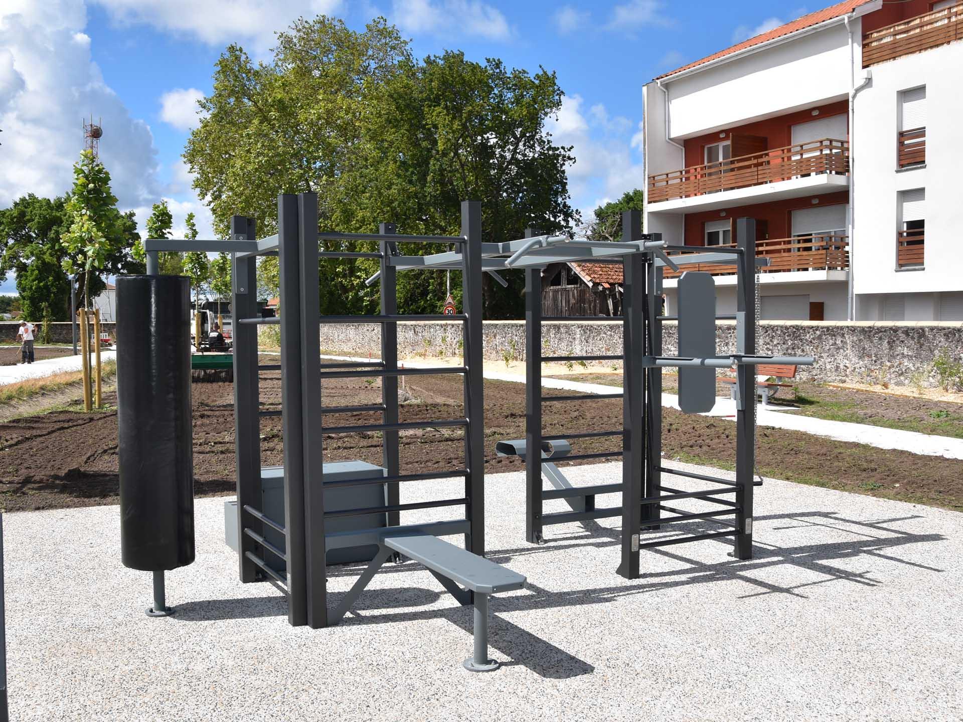 Photo de l'aire de fitness en extérieur de Biscarosse