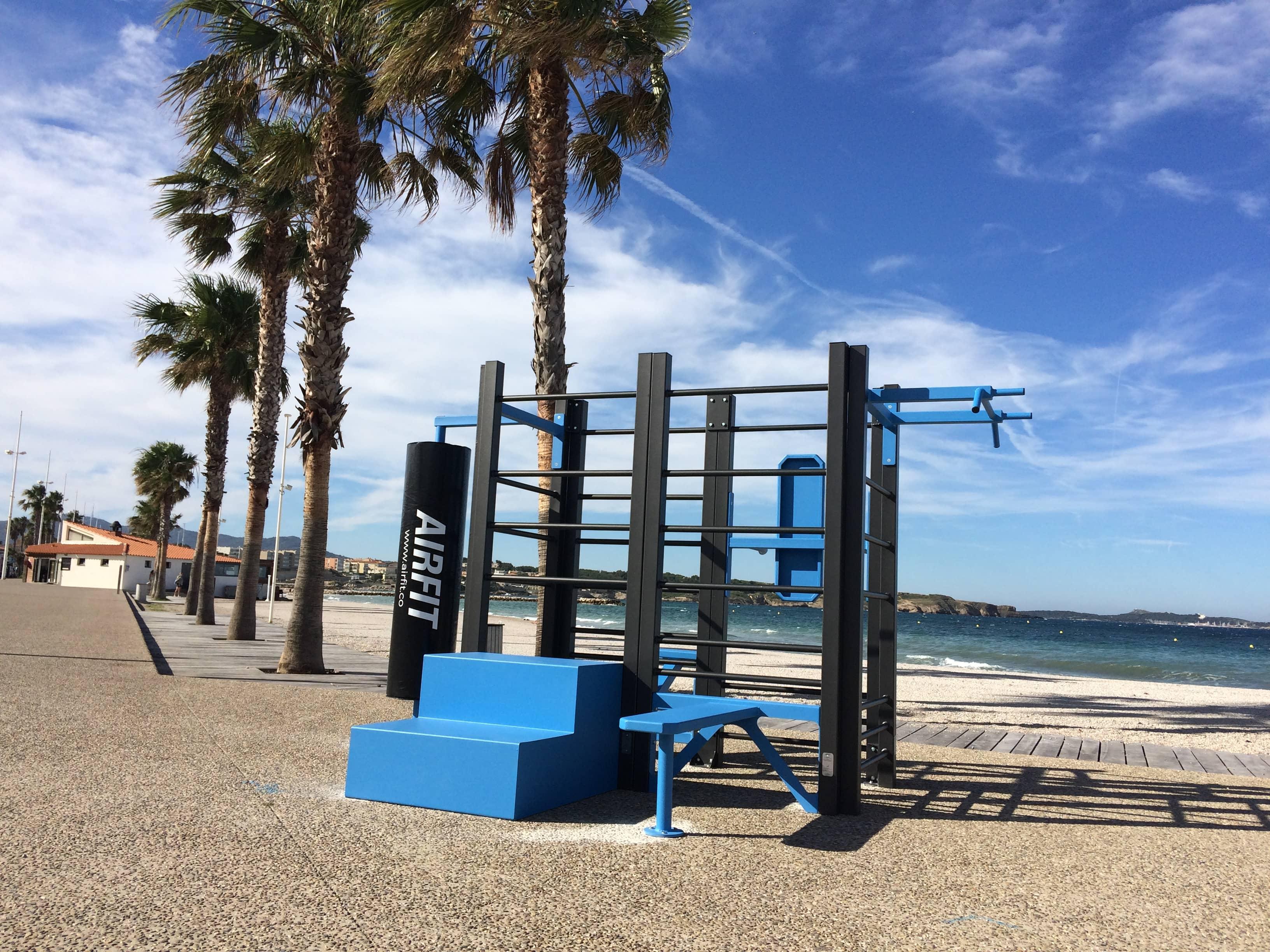 Photo de l'aire de Fitness sur la plage de Bonnegrace à Six-Fours-les-Plages