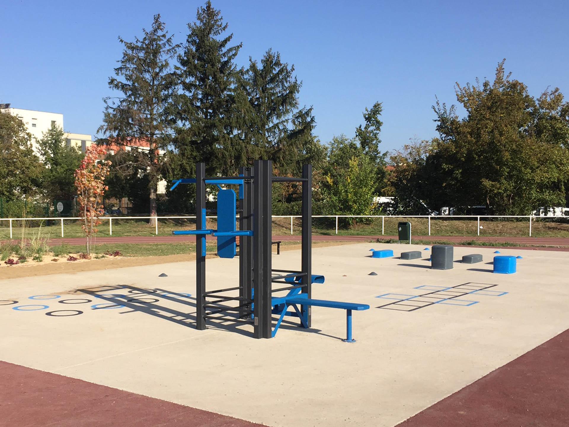 Photo de l'aire de fitness en extérieur de Vaulx en Velin