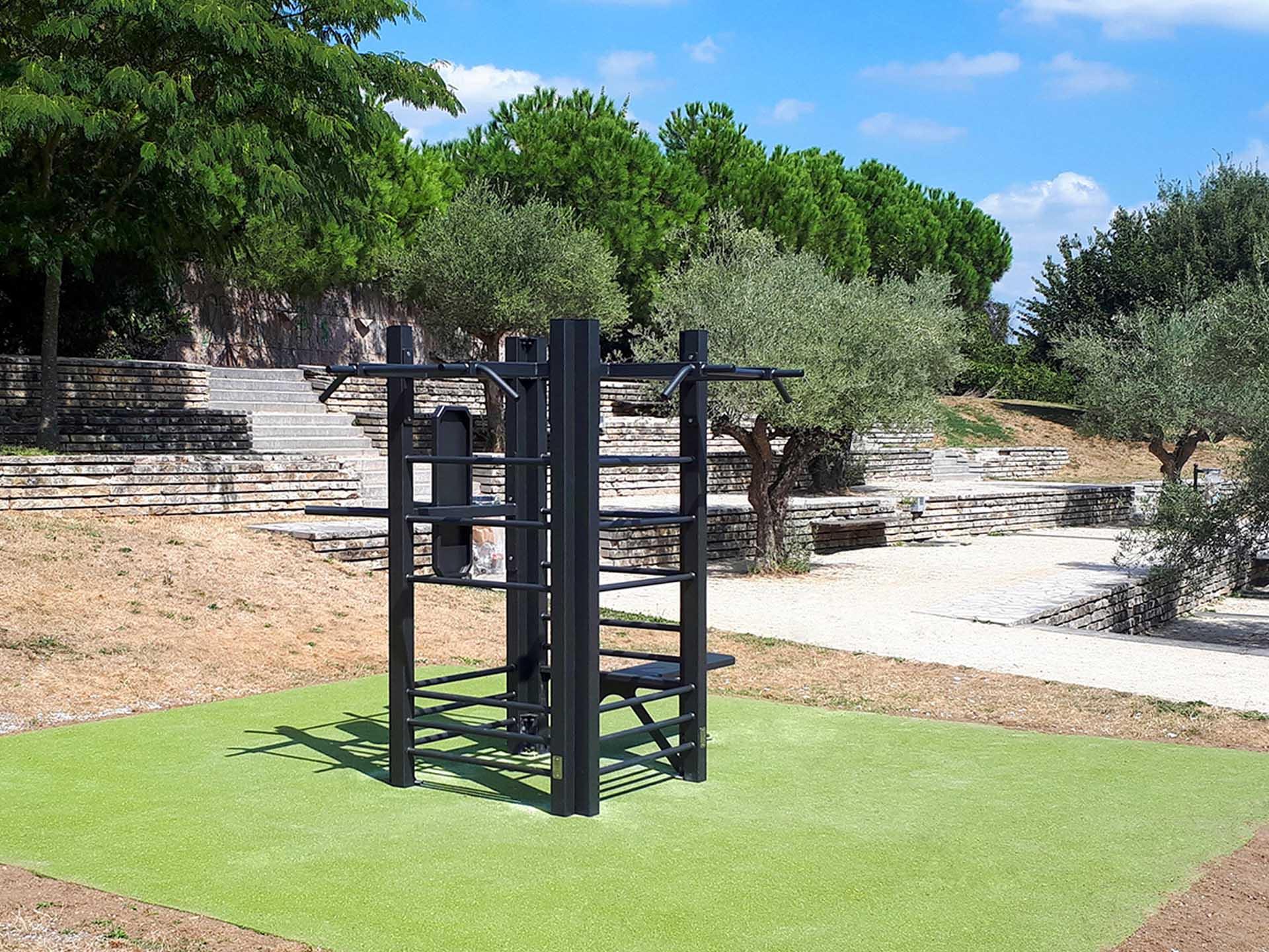 Photo de l'aire de fitness des terrasses du soleil à Thiais