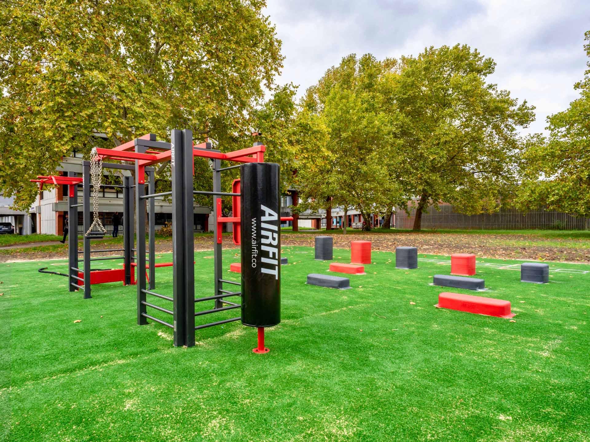 Photos des équipements de sports extérieurs du Campus de Villetaneuse