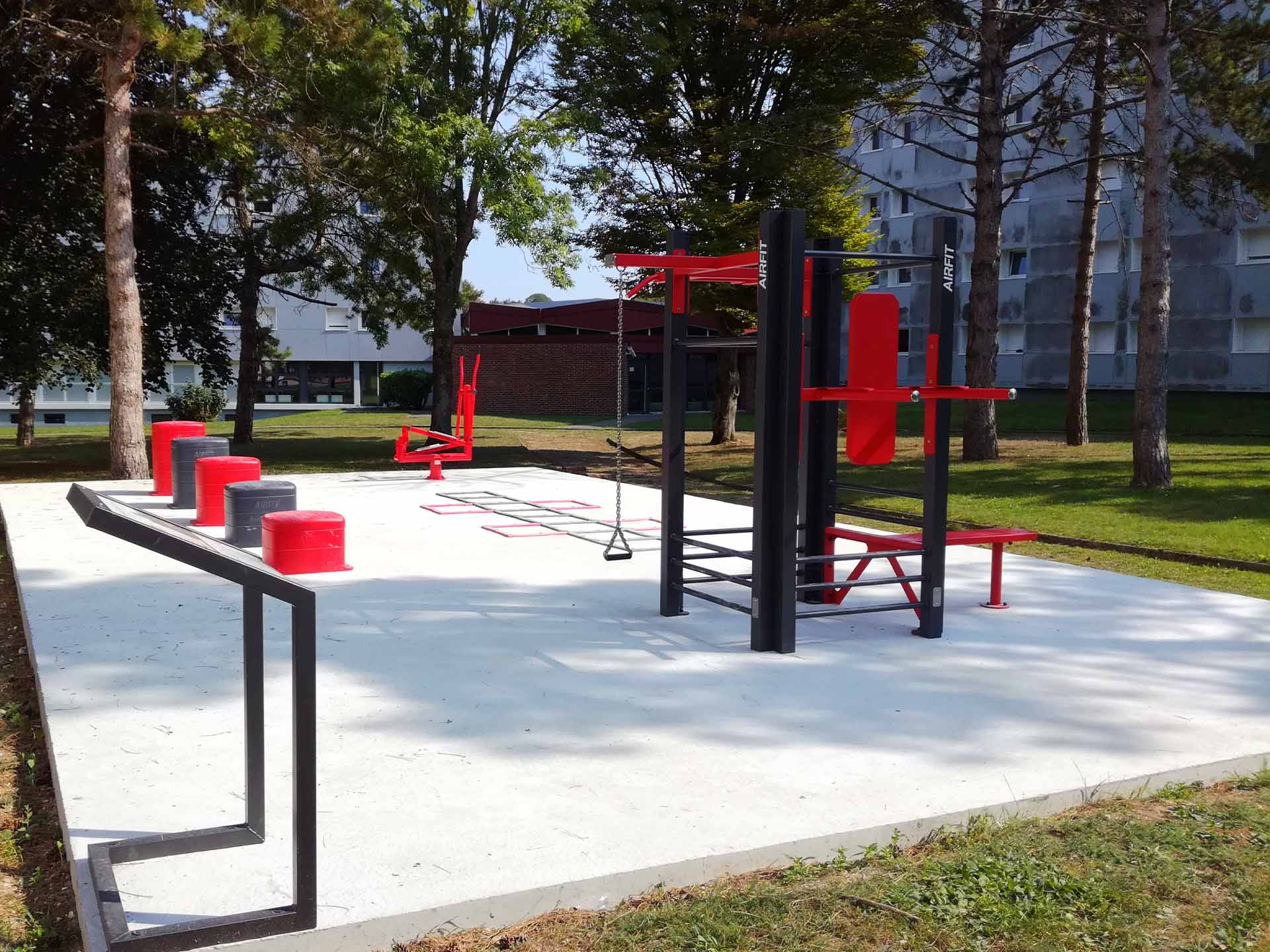 Photo de l'aire de fitness de la Résidence du Bailly - CROUS Amiens