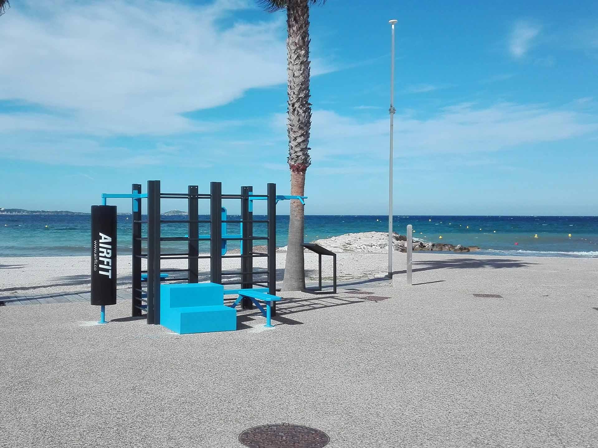 Photos des équipements sportifs AirFit de la plage de Bonnegrace