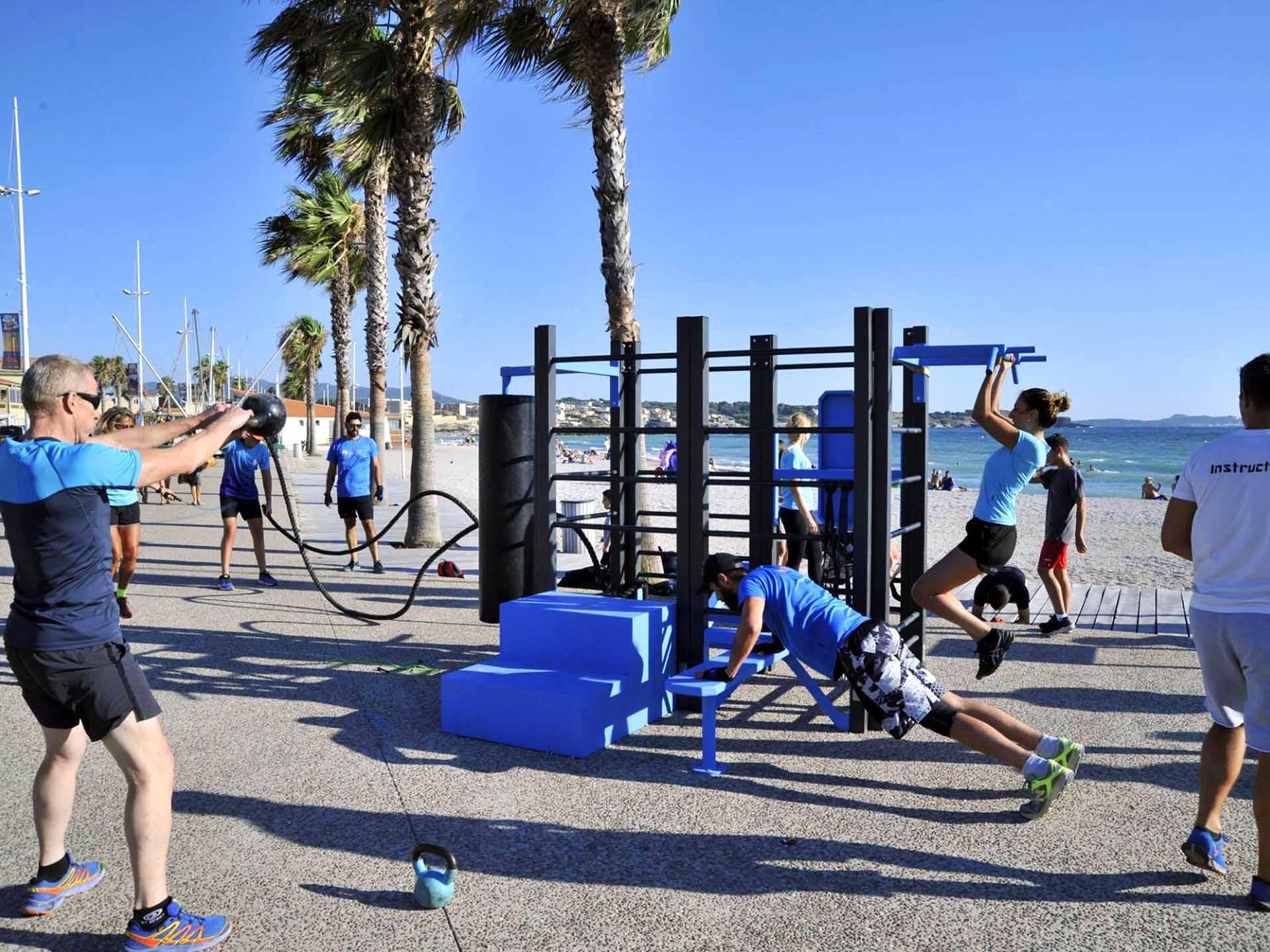 Photo d'un entraînement de PrépaPhys sur la Station de Fitness de Bonnegrace
