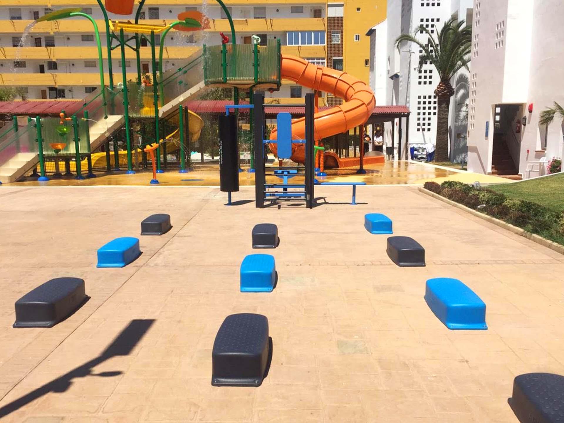 Photo des Steps et de la Station de Fitness de l'Hôtel SMY Malaga