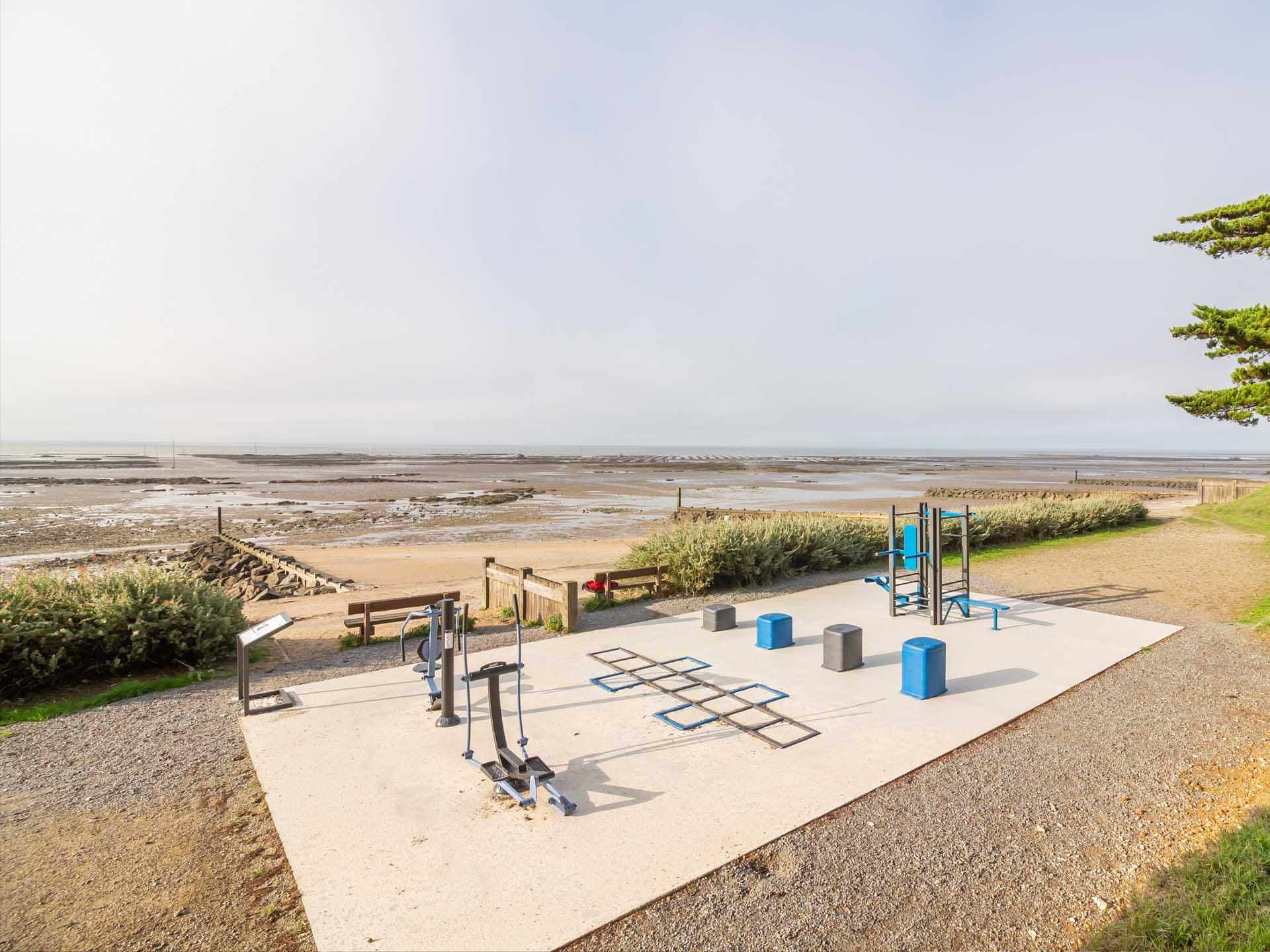 Photo de l'aire de Fitness proche de l'Océan de la Bernerie en Retz