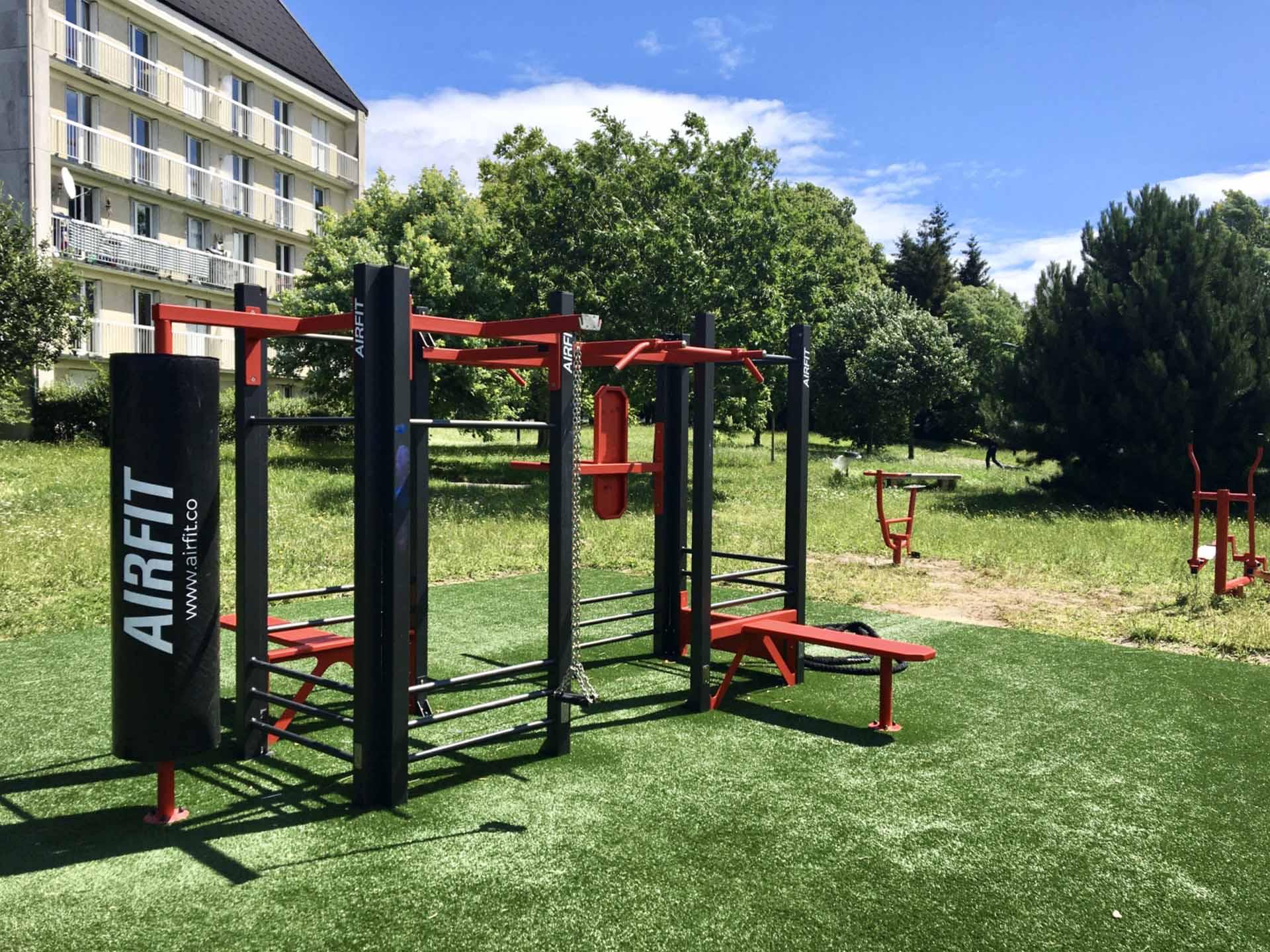 Photo de l'aire de fitness AirFit rue Victor Hugo à Clermont de l'Oise