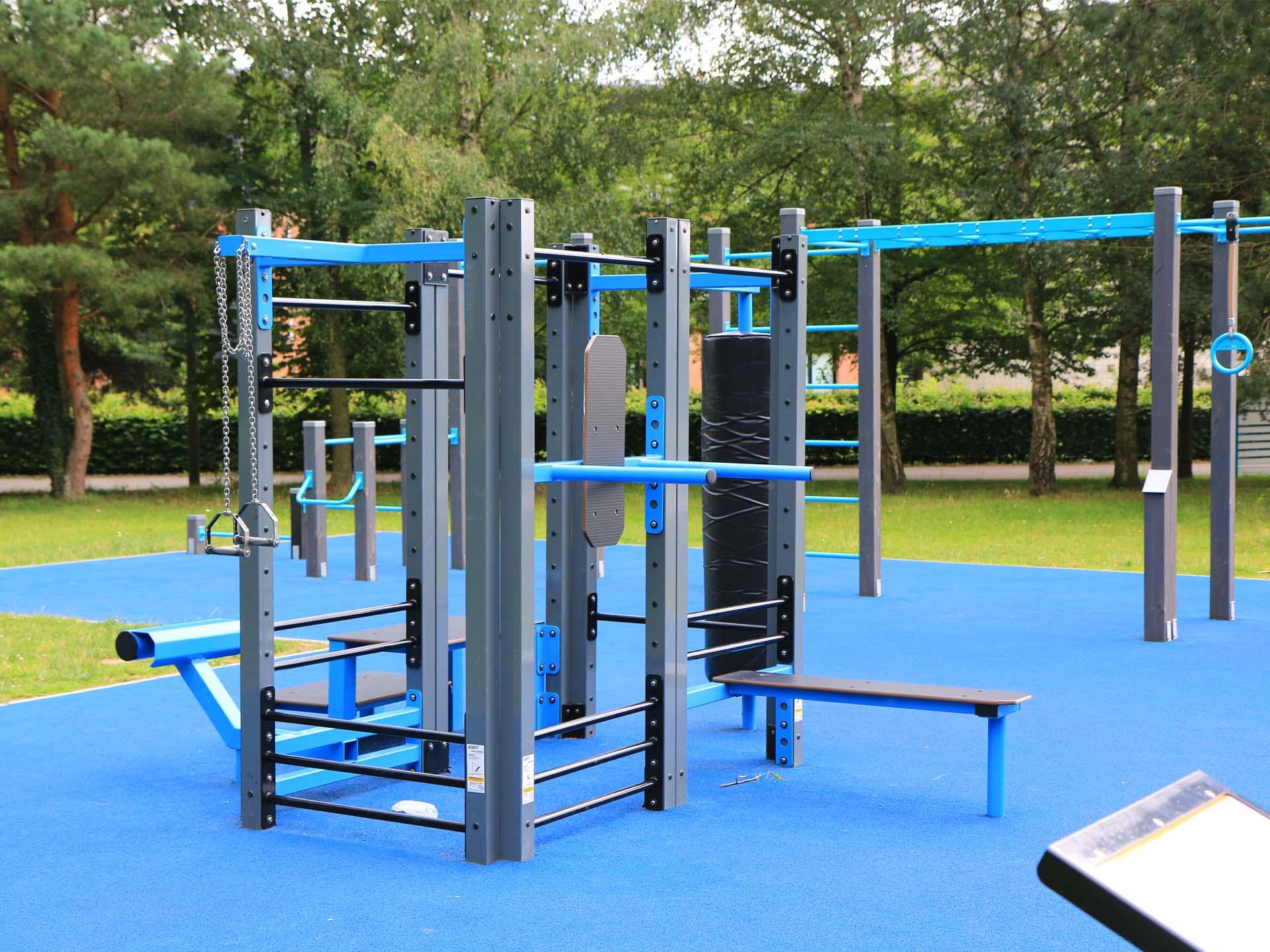 Photo des équipements fitness pour les étudiants de l'UPHF à Valenciennes