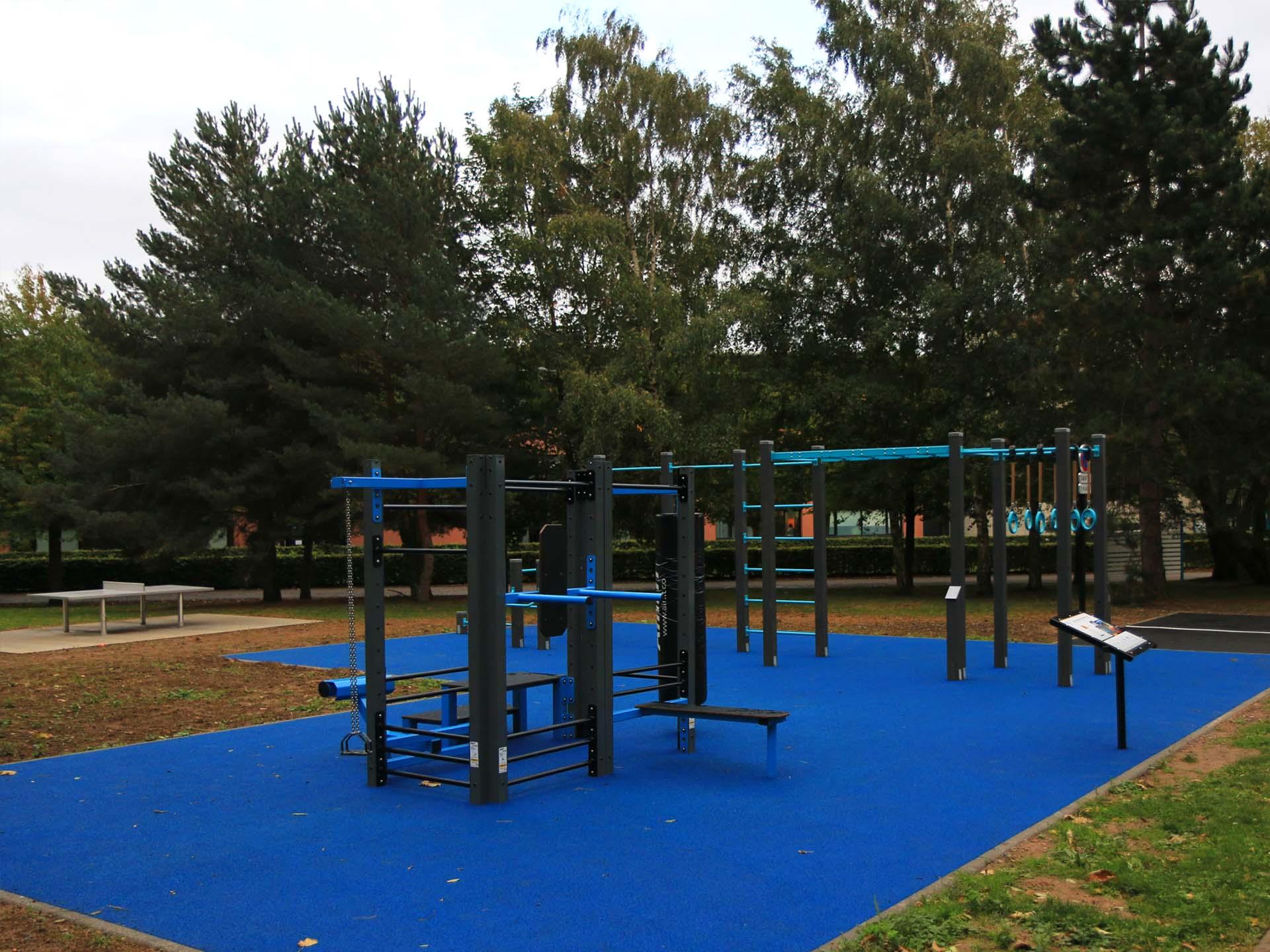 Photo du plateau sportif pour les étudiants de l'UPHF à Valenciennes