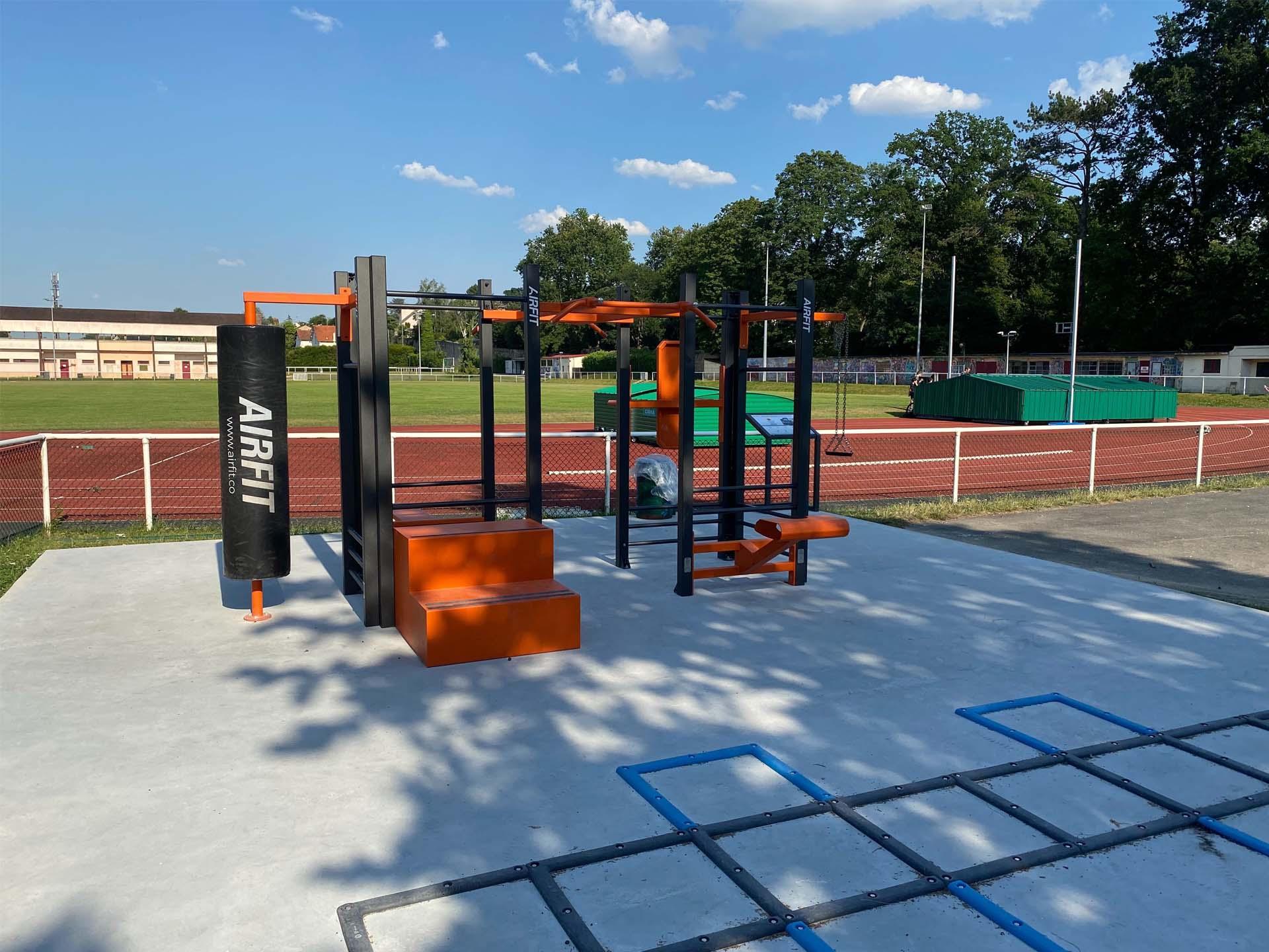 Photo de l'aire de fitness en extérieur d'Orsay