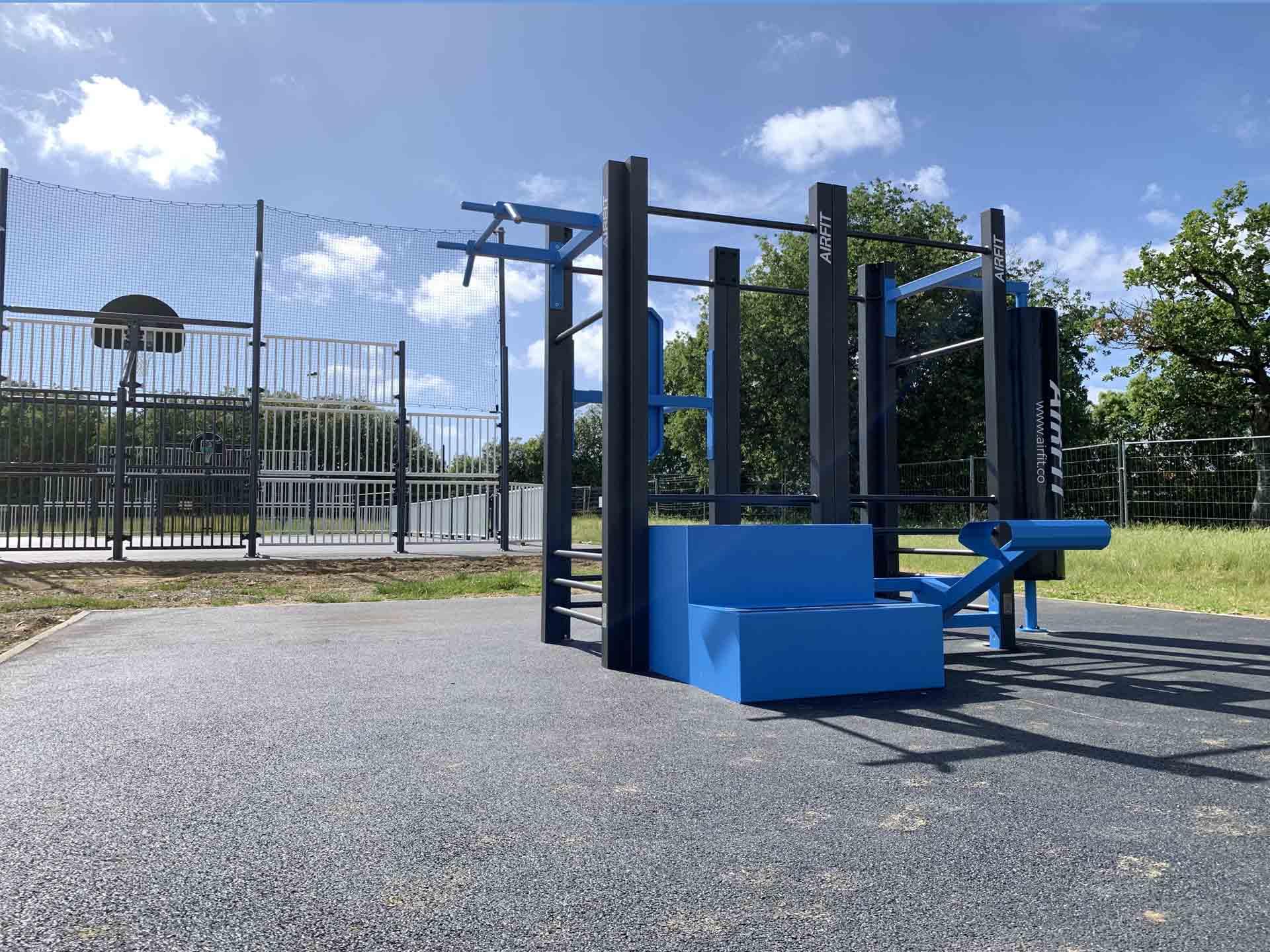 Photo de l'aire de fitness connectée en accès libre de Talmont-Saint-Hilaire