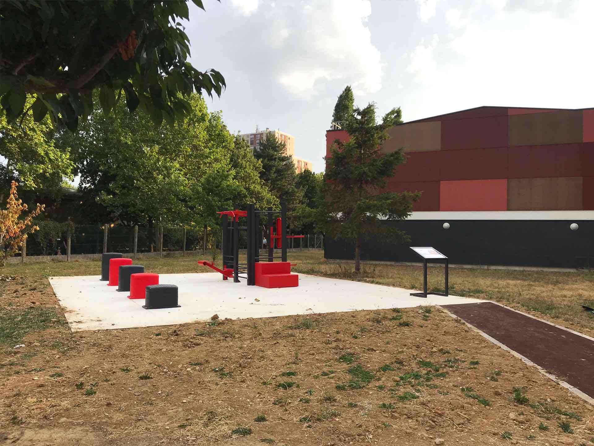 Photo de l'aire de fitness plein air à Antony