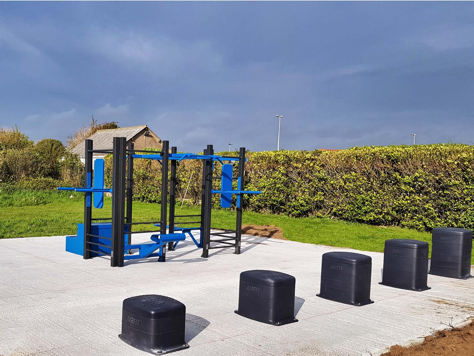 Photo de l'aire de fitness en extérieur AirFit de Le Portel