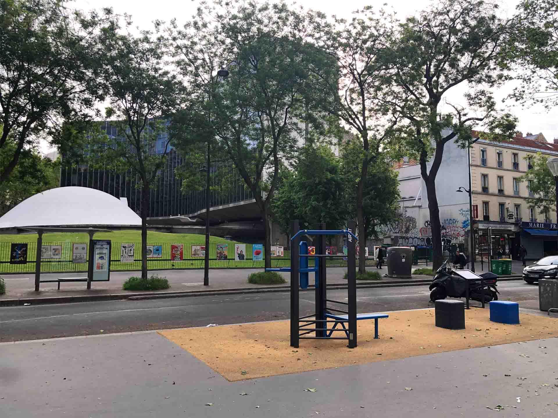 Photo de l'aire de fitness plein air de Colonel Fabien à Paris