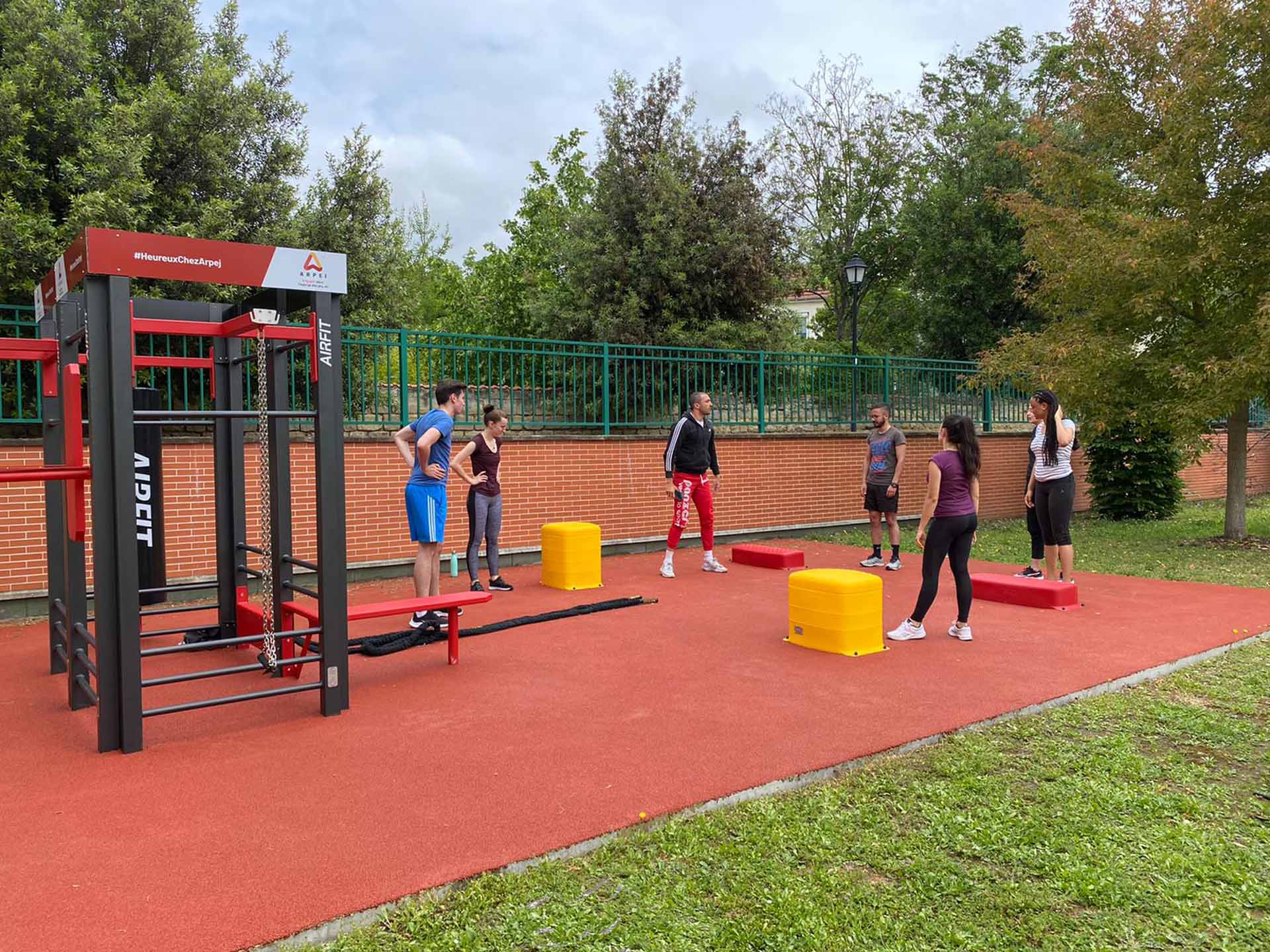 Photo de l'aire de fitness de la résidence ARPEJ de Nanterre