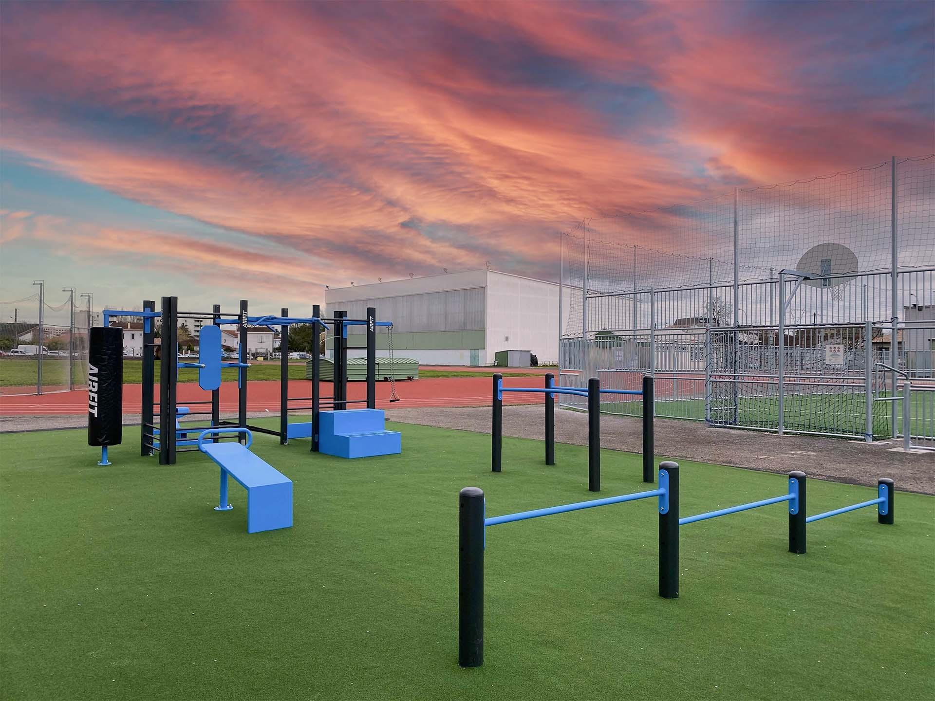 Photo de l'aire de fitness en accès libre du Complexe Duhourquet - Bègles