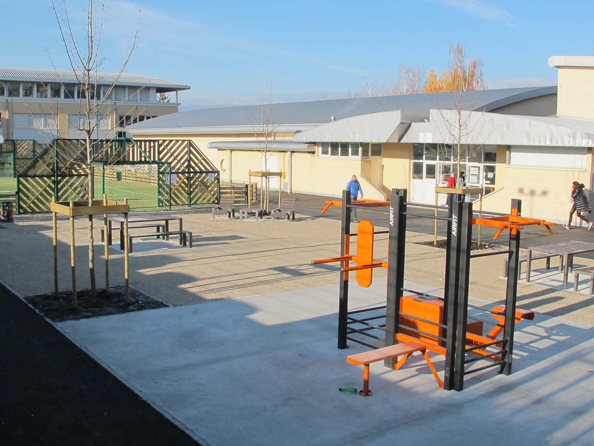 Photo de l'aire de fitness en extérieur de Saint-Julien-en-Genevbo