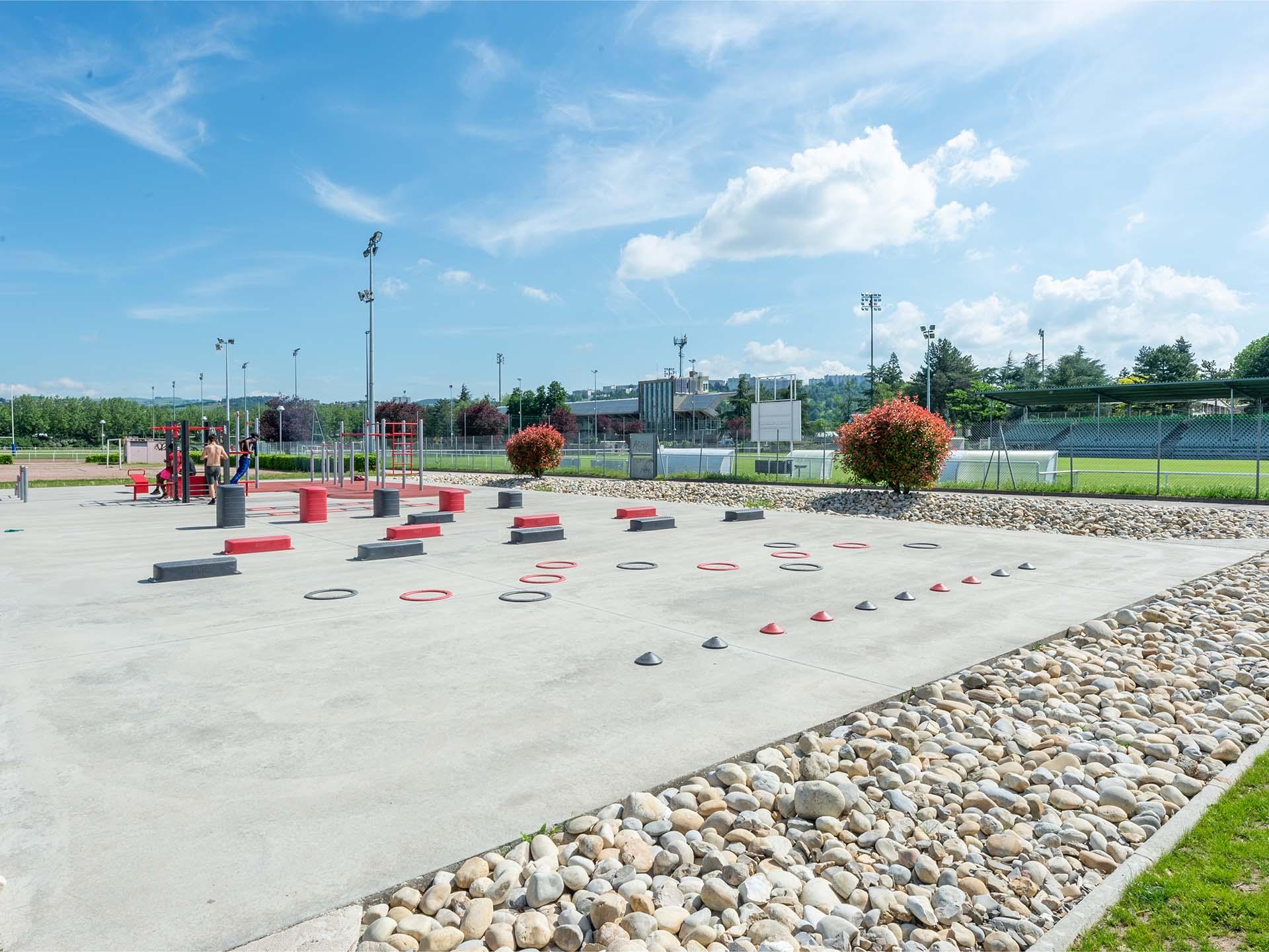 Photo du plateau sportif AirFit du Stade de l'Etivallière à Saint Etienne