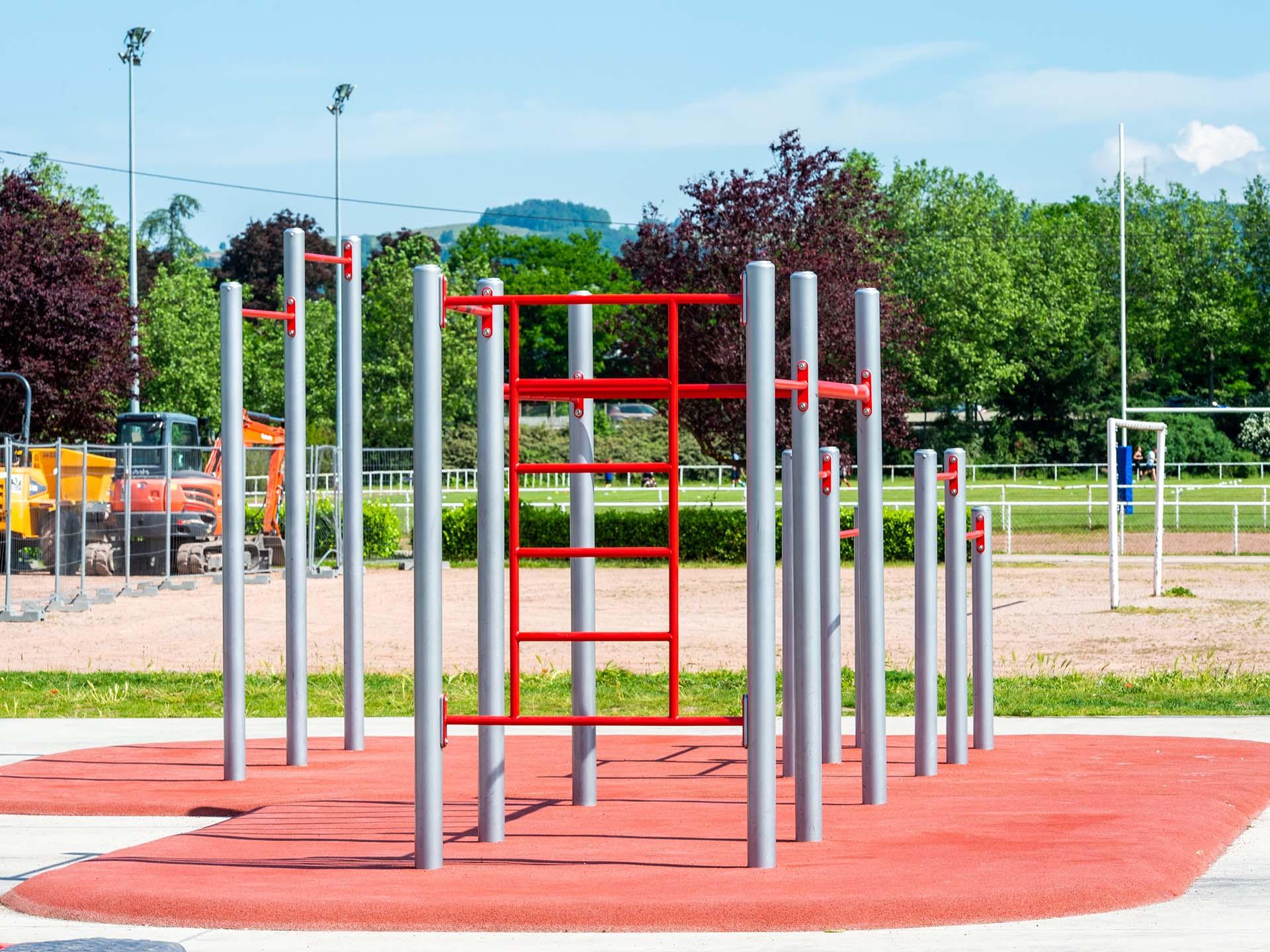 Photo du module de Street-Workout de l'aire de Fitness AirFit de Saint-Etienne