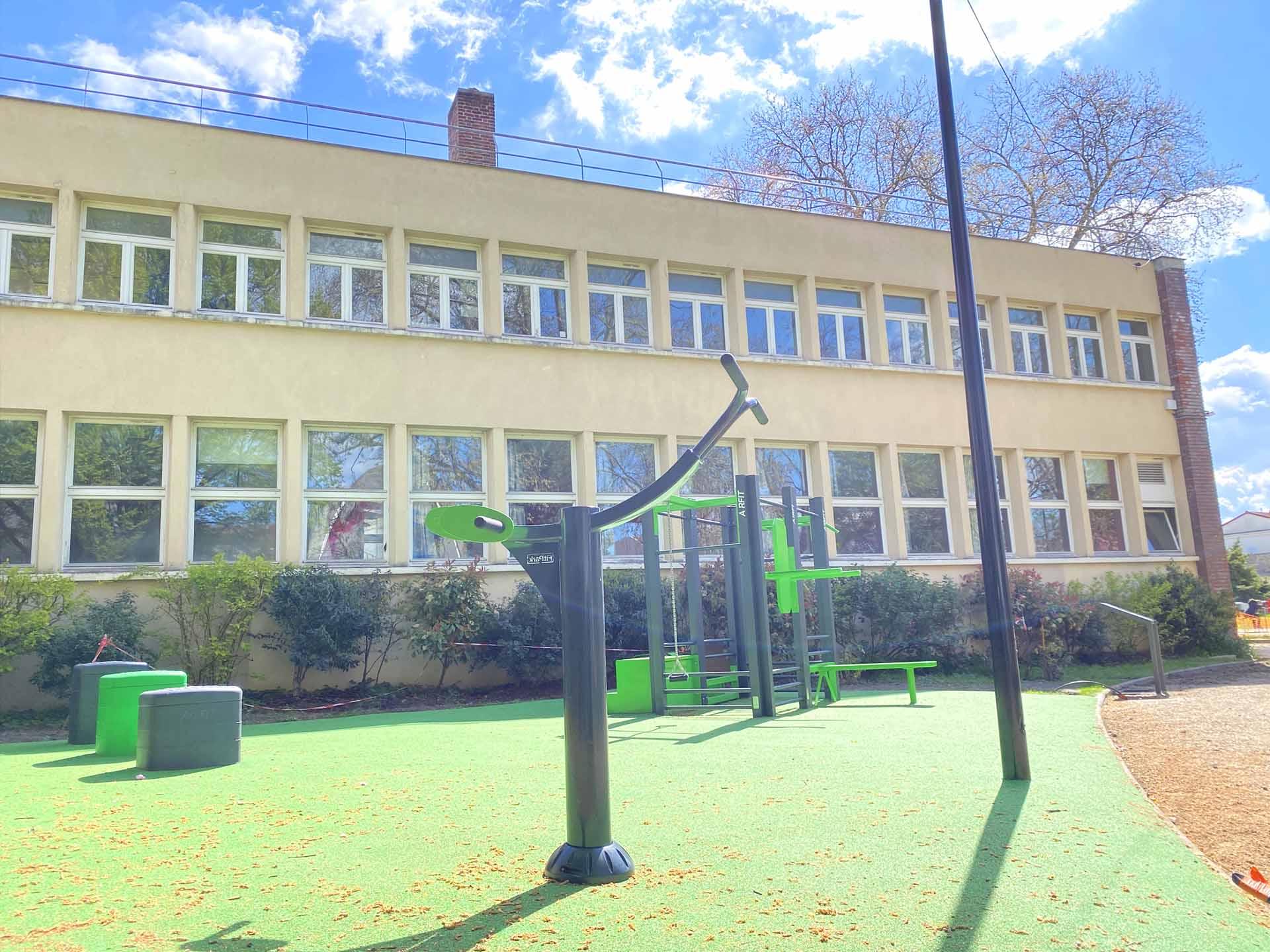 Photo de l'aire de sport du Parc des Anciennes Mairies à Nanterre