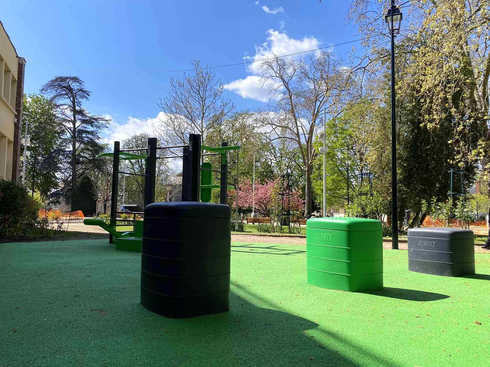 Photos des équipements sportifs extérieurs du Parc des Anciennes Mairies de Nanterre