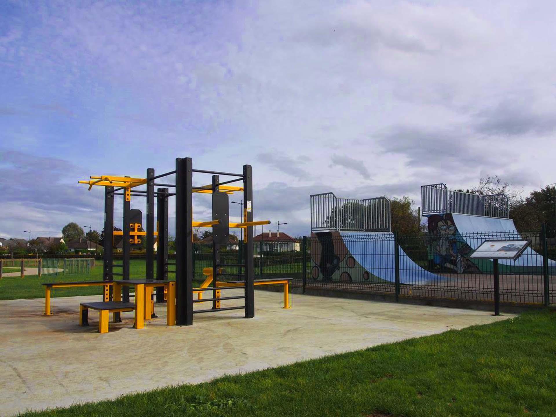Photo de l'aire de sport en plein air du Bosc Roger en Roumois