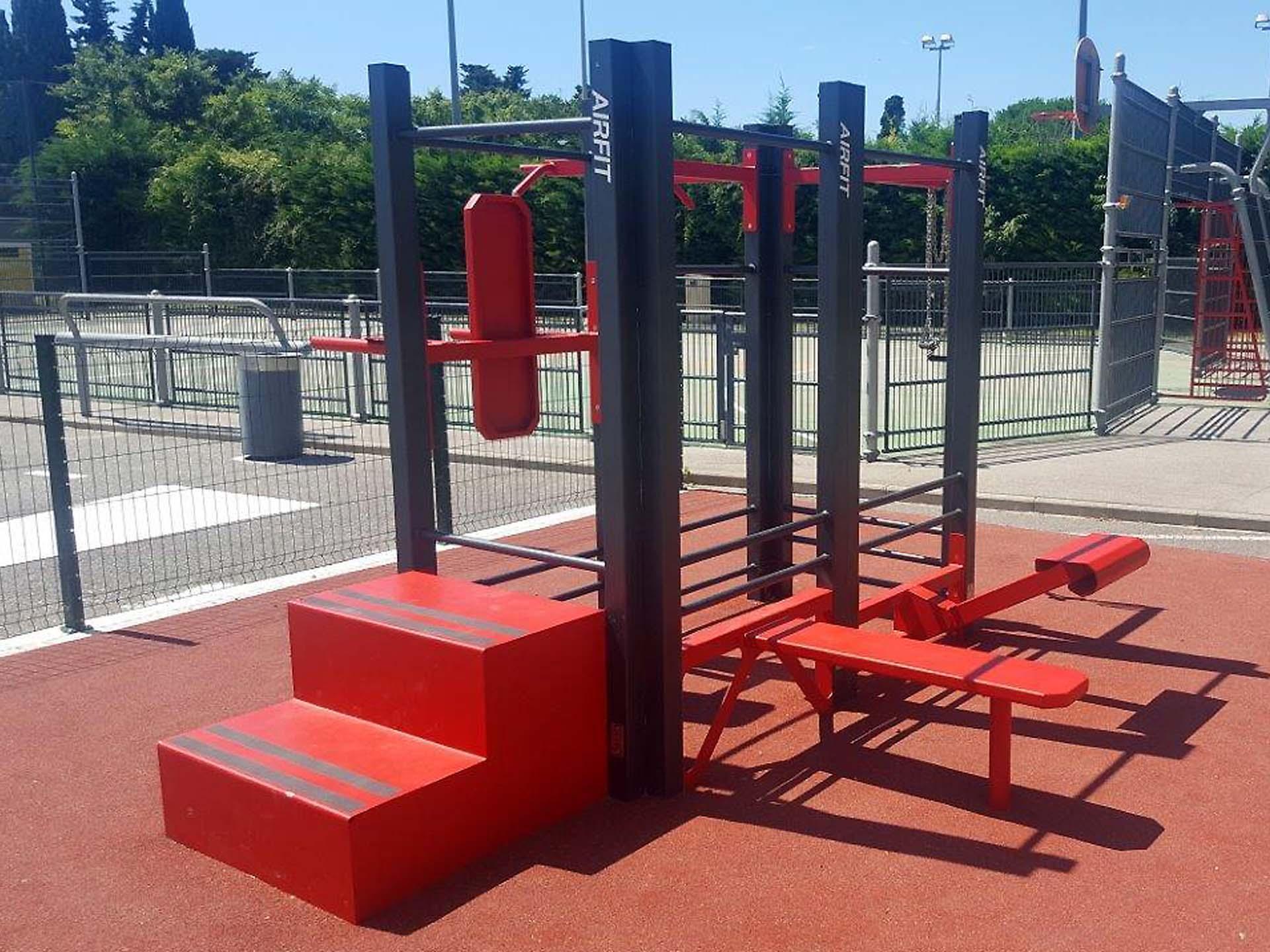 Photo de l'aire de fitness en extérieur AirFit de Saint-Georges-d'Orques