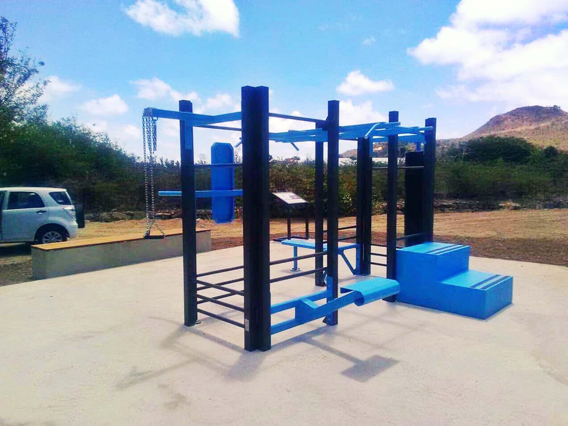 Photo de l'aire de fitness de Saint Barthélémy à côté du Tennis Club